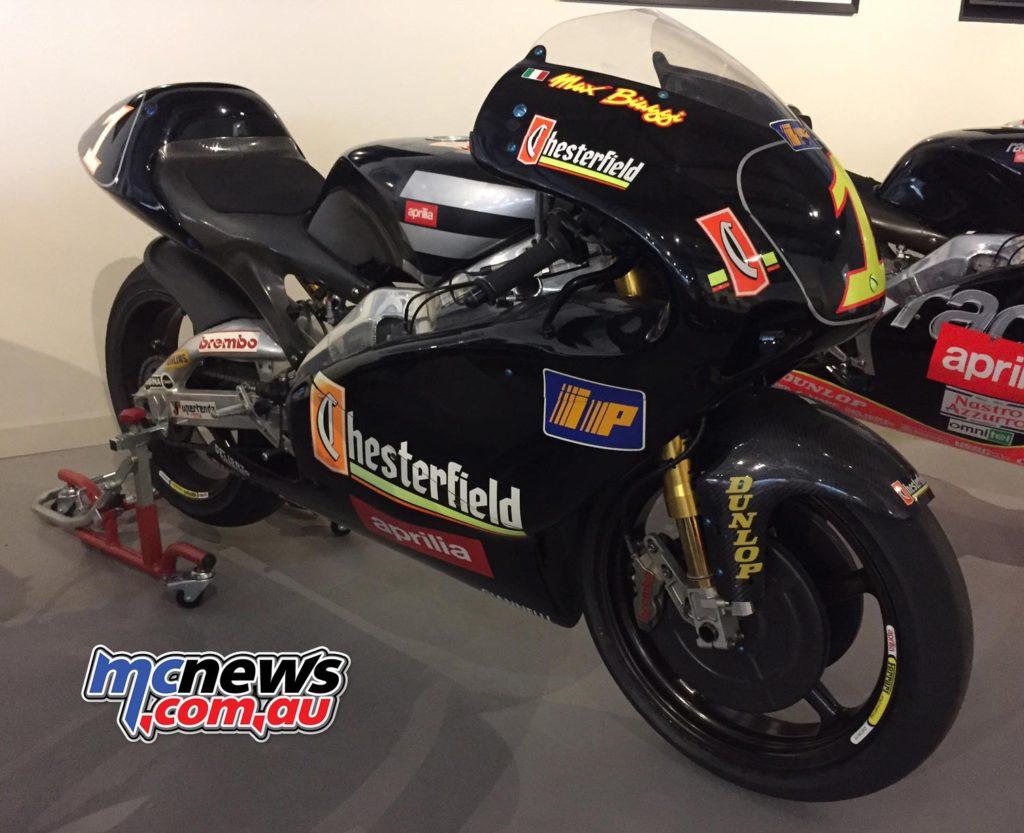 Max Biaggi 250cc Aprilia World Championship machine