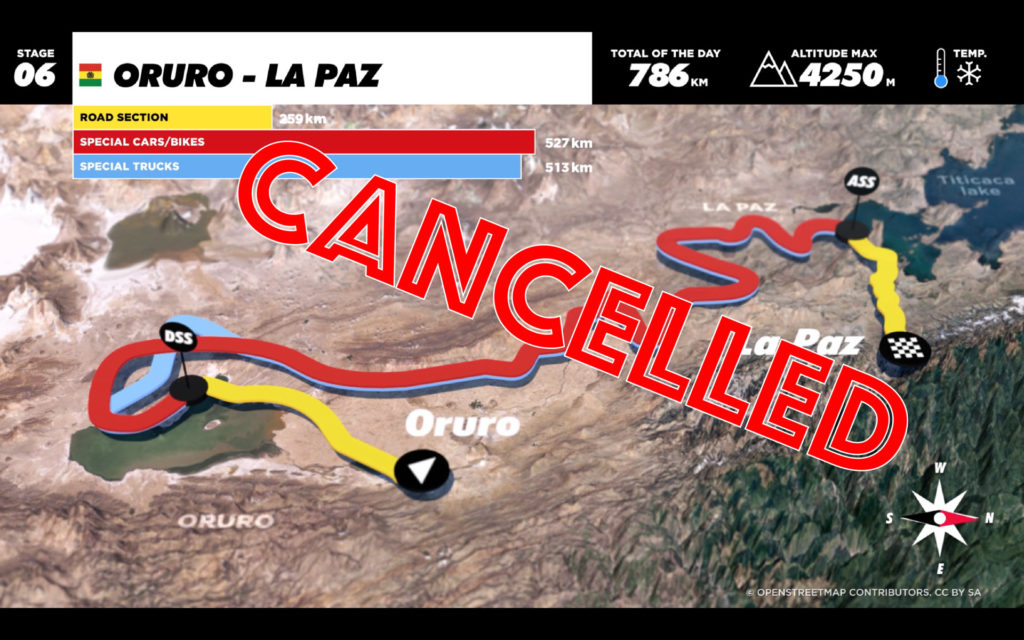 Dakar 2017 - Stage 6 Cancelled