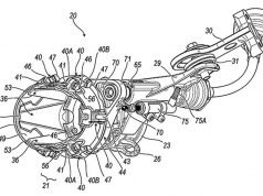 While exhaust valves are nothing new, the traditional format of a flat plane butterfly valve has become a lot more intricate in these patent drawings supposedly from Ducati that feature a variable geometry style 'jet' valve that in theory might also control the angle of the exhaust gases for some sort of aerodynamic or thrust benefit...