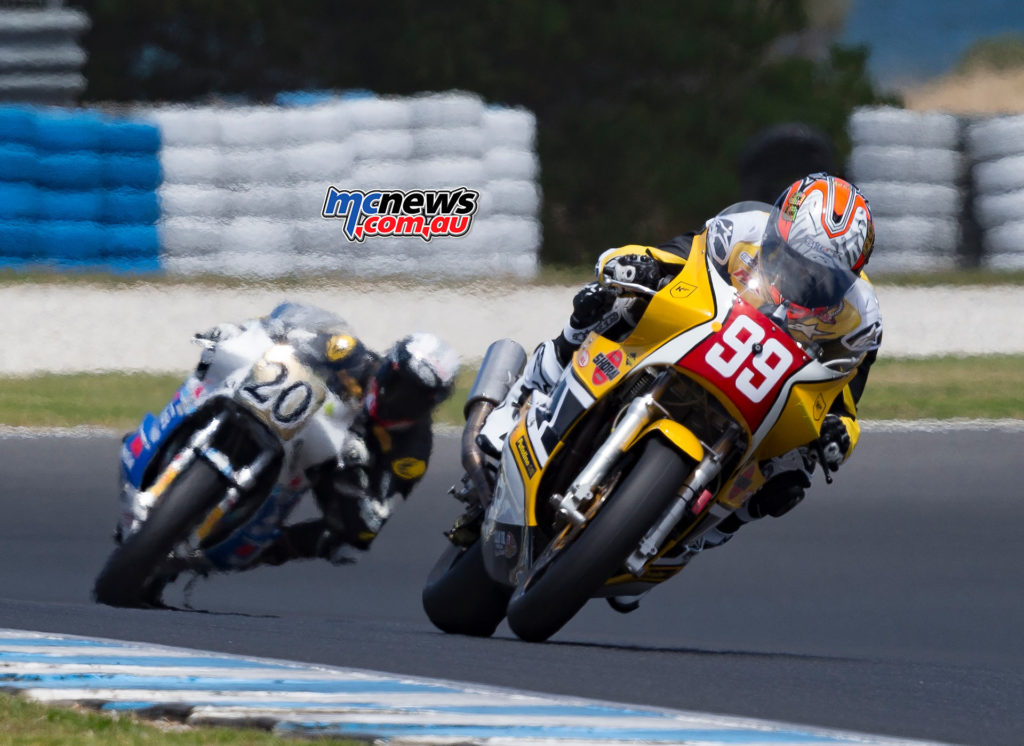 2017 Island Classic International Challenge Race One - Jeremy McWilliams chased by Alex Phillis and Shawn Giles - Image by Andrew Gosling