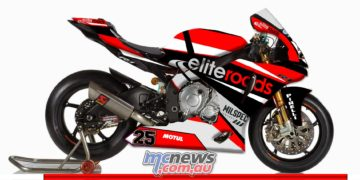 Josh Brookes - The livery of the Elite Roads backed Yamaha that Josh Brookes will ride at the Phillip Island round of the Superbike World Championship over the weekend of February 24-26