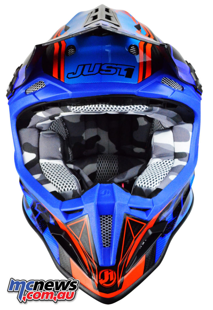 Just1 J12 Dominator helmet - with removeable and washing inner liner