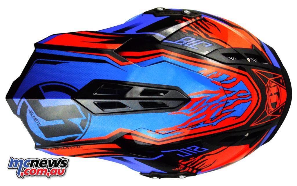 Just1 J12 Dominator helmet - in Red/Blue
