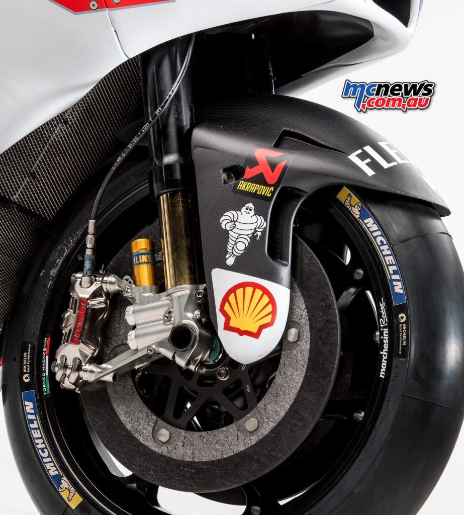 2017 Ducati Launch Desmosedici MotoGP machine with Brembo calipers