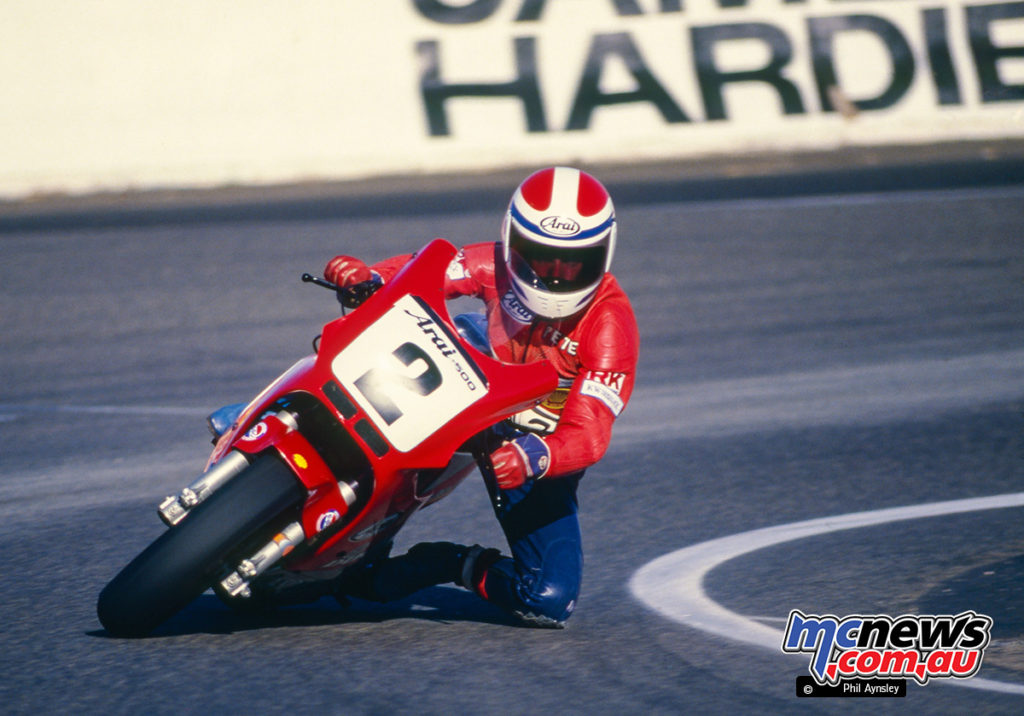 Bathurst 1986 - Pete Byers on the Frasers Ducati 750 Montjuic