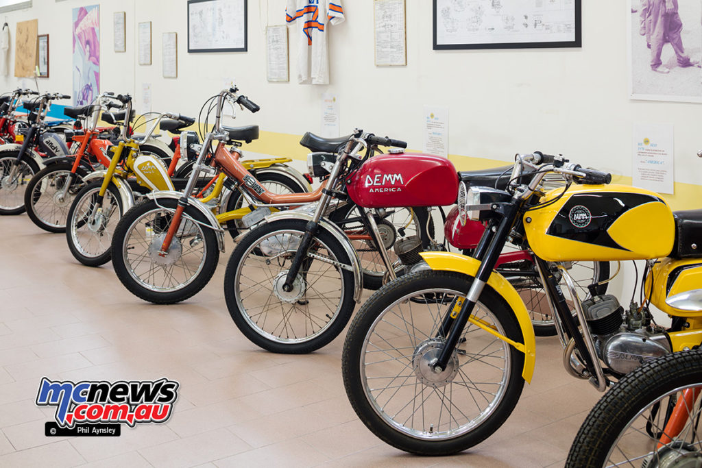 The Museum of Motorcycles and Mopeds DEMM - with quirky names like Andy, America, Toxy, Panther
