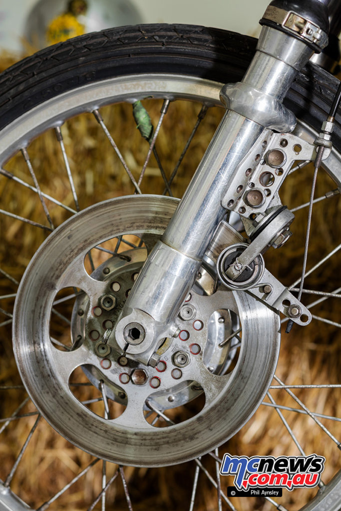 The Museum of Motorcycles and Mopeds DEMM - The front disc brakes stopping power proved problematic