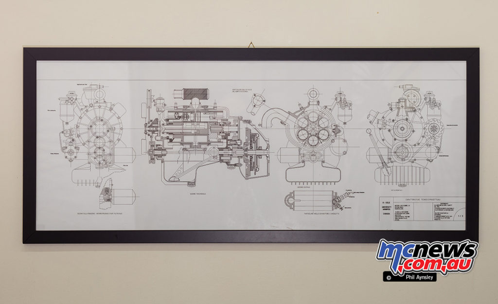 "The Museum of Motorcycles and Mopeds DEMM - Schematic of Professor Kristiansen's ""K"" cycle motor, built by DEMM"