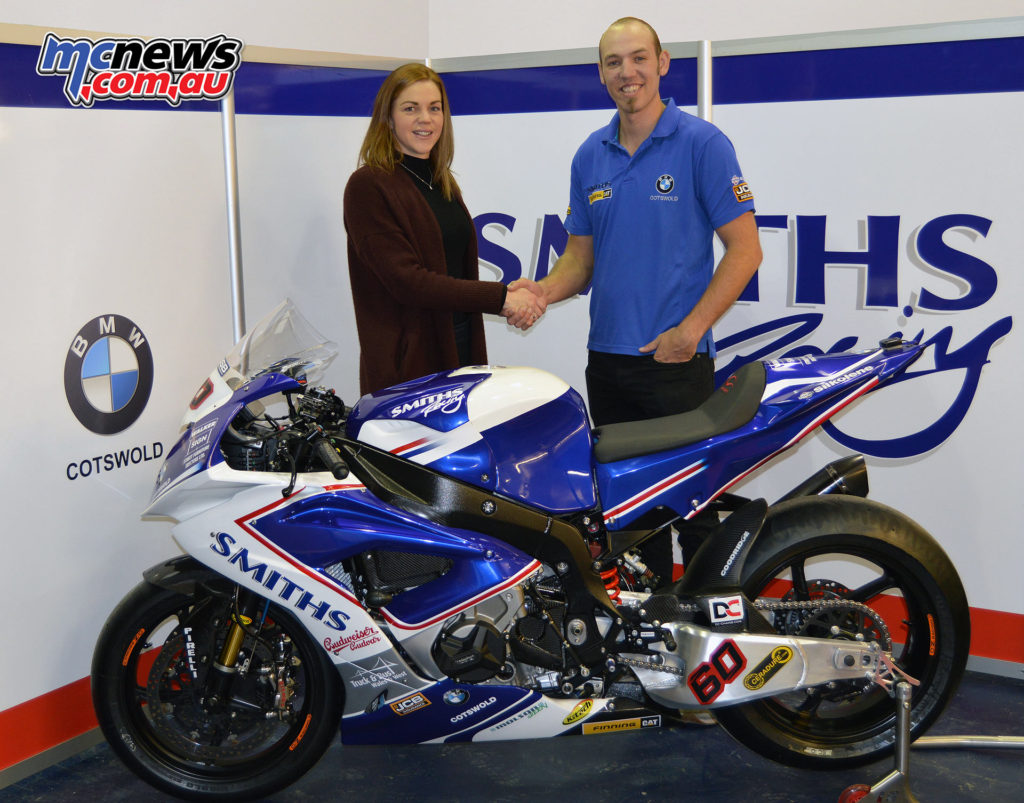 Rebecca Smith, Team Manager of Smiths Racing BMW, and 2017 BSB and IoM TT rider Peter Hickman