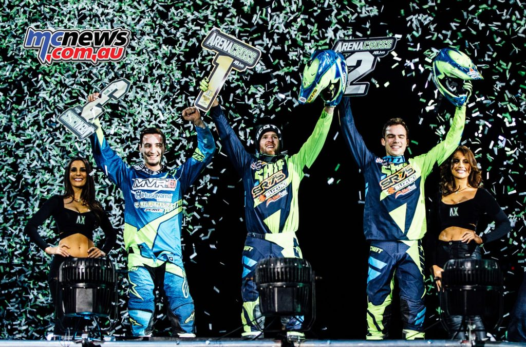 UK Arenacross 2017 - Round Two Glasgow - Cyrille Coulon the winner, Thomas Ramett 2nd