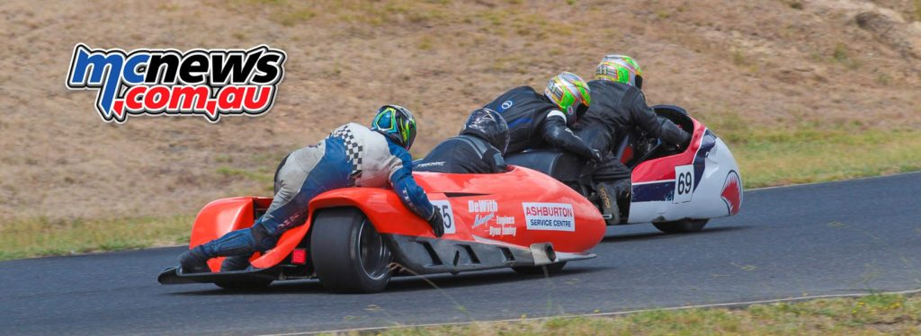 2017 Hartwell Championship - Rnd 1 - Sidecars - Justin/Melissa Foot, Duncan Rogers/Rod Bell - Image: Cameron White