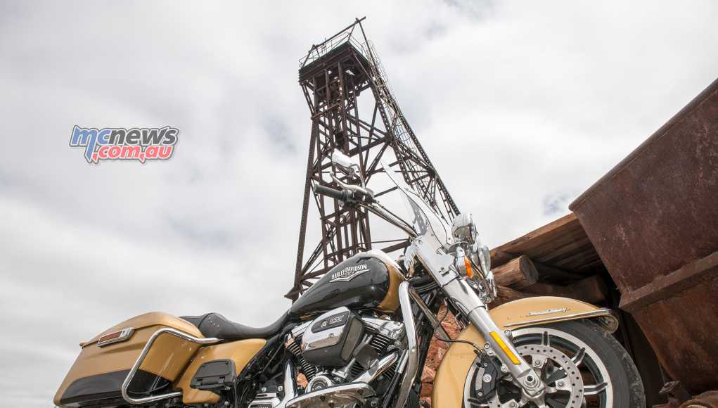 Harley-Davidson Road King pictured at Hannans North Tourist Mine