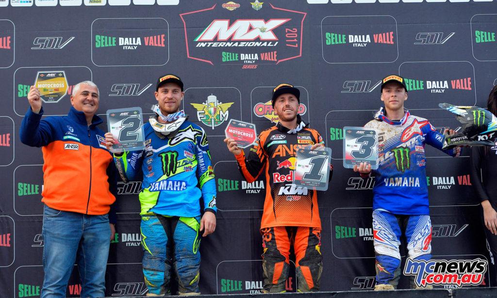 2017 Italian MX Championships - Malagrotta Rnd2 - Podium