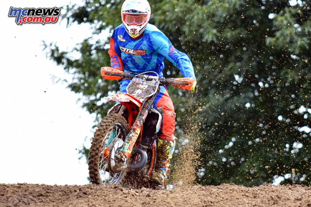 Hamish Harwood leads the NZ MX2 Championship standings