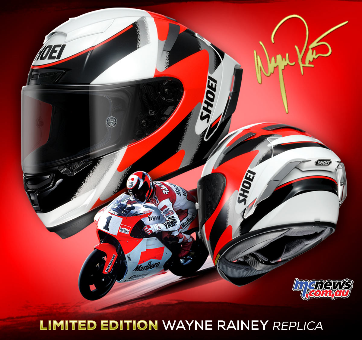 2017 Shoei X-Spirit III Wayne Rainey Replica