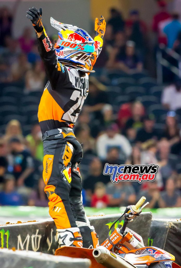 Musquin's first career win came in dominant fashion