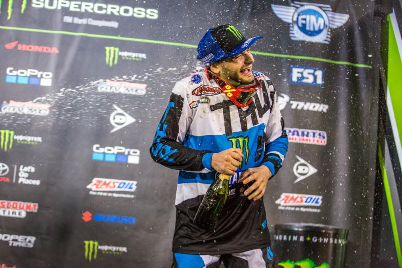 Rookie Webb enjoyed his first 450SX Class podium. Photo: Feld Entertainment, Inc.