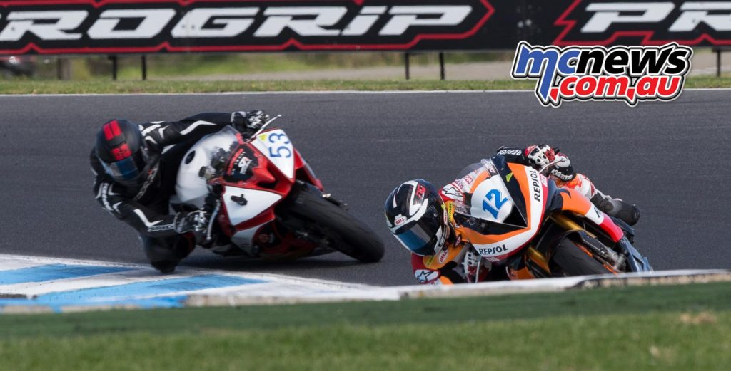 Mark Chiodo leads Mason Coote - Image by TBG