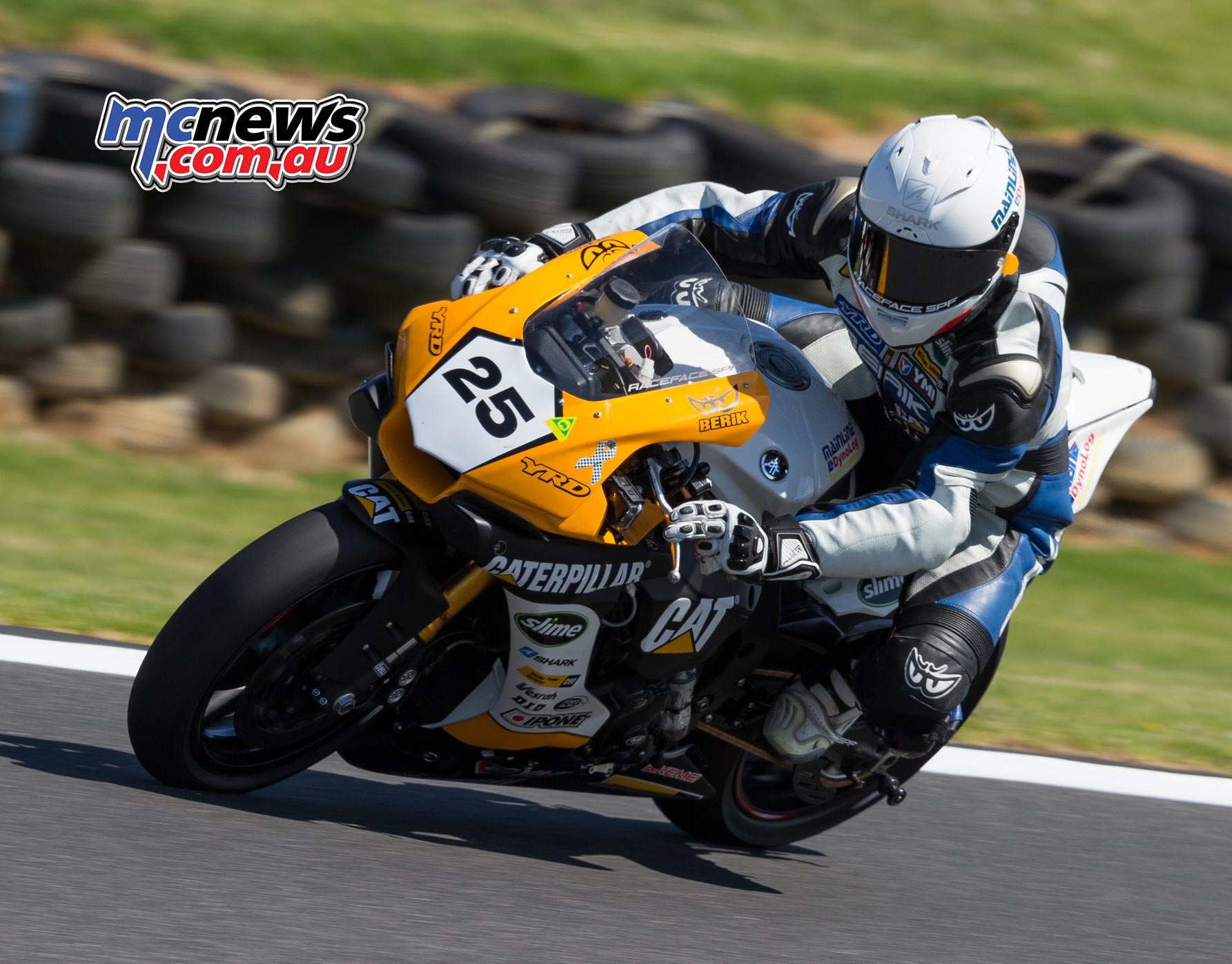 ASBK 2017 - Round Two - Phillip Island - Race Two - Image by TBG - Daniel Falzon leads