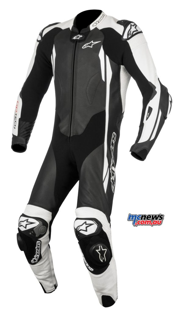 The upper spec' Tech V2 one-piece leather suit will retail for $2595.95 and will be sized from 44-58.