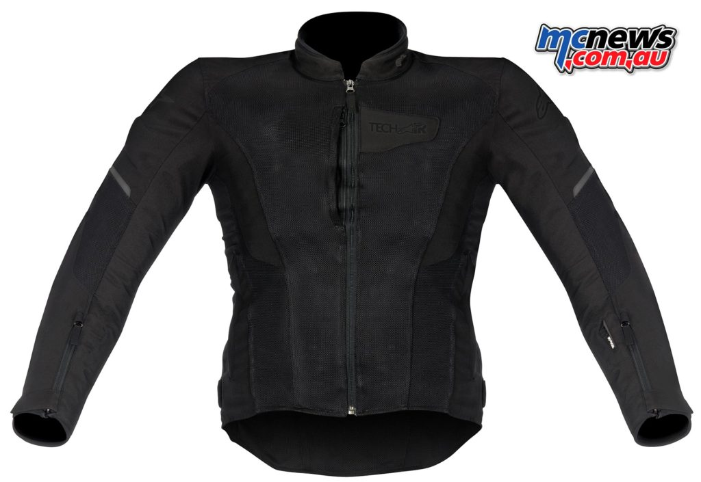 Alpinestars Viper Jacket for Tech-Air system, seen here inflated. The Viper is the lowest cost point of entry to Tech-Air compatible jackets, at $699.95 and available in sizes ranging from small to 2XL.