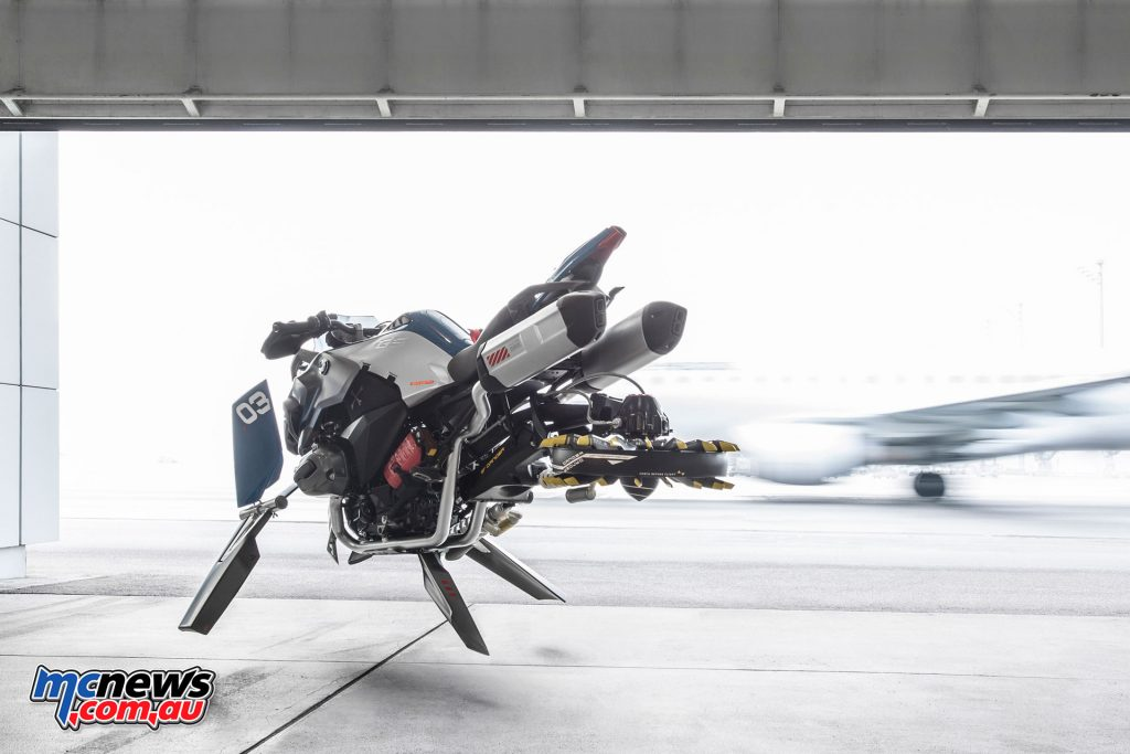 A life size BMW Hover Ride Concept vehicle was built