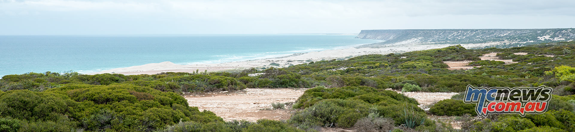 Great Australian Bight - Landscapes like this do not require a motorcycle in them