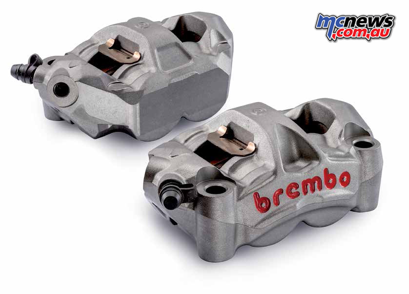 Brembo monoblock caliper, with radial mounts