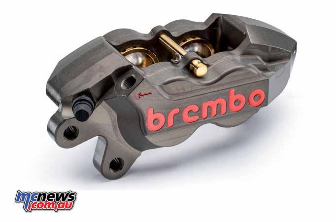 Brembo monoblock caliper, axial mount