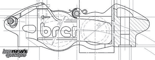 Brembo's radial mount, monoblock caliper