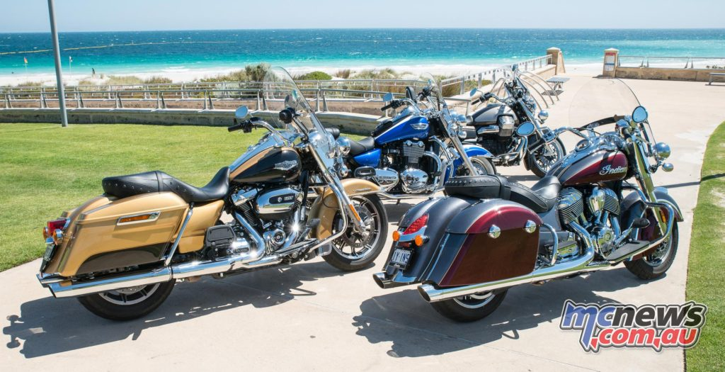 The four bikes at our final destination on the west coast, Sorrento Beach