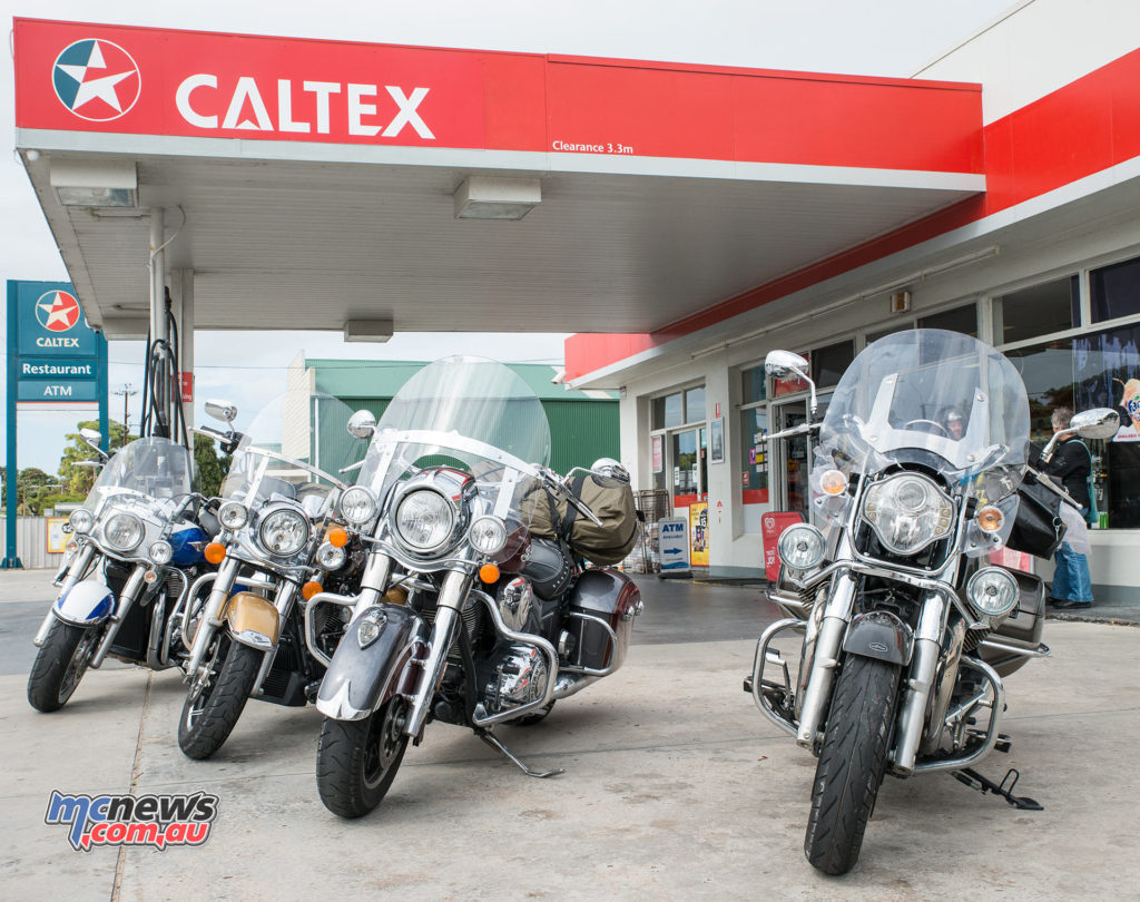 Filling up with Vortex 98 at the Caltex in Meningie