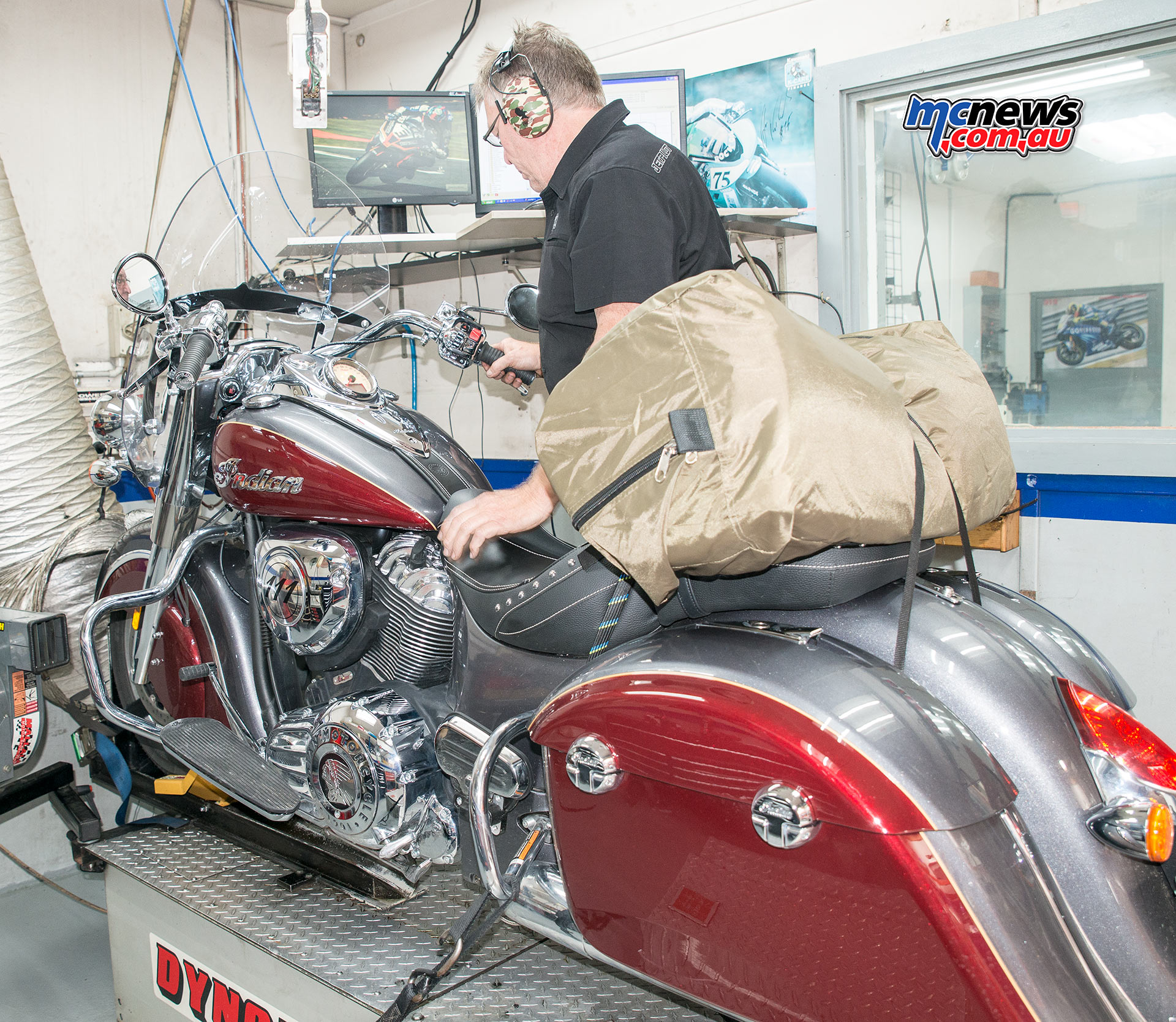 Indian Springfield on the Dyno at Competition Conversions in Thebarton