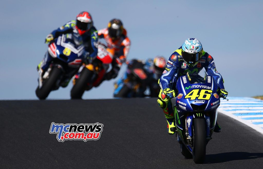 Valentino Rossi pictured at the Phillip Island MotoGP Test - Image by Andrew Northcott
