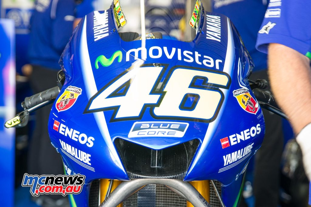 Rossi was almost a full-second off his newly arrived teammate.