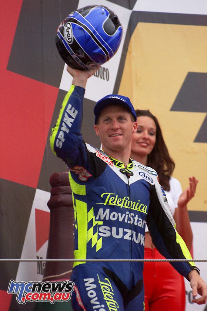 Kenny Roberts Jr in 2000 - Being inducted into the World Champion Hall of Fame in 2017