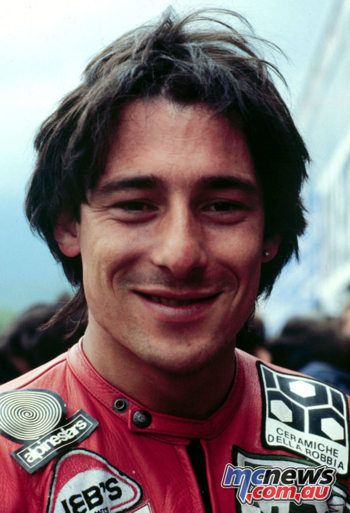 Marco Lucchinelli in 1981 - Being inducted into the World Champion Hall of Fame in 2017