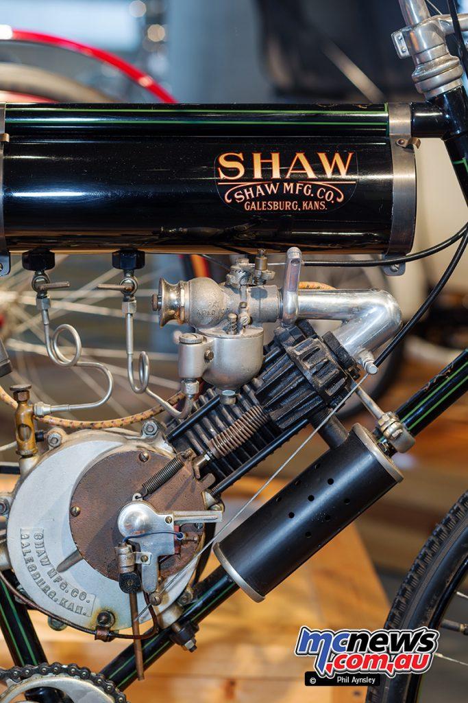 Barber Vintage Motorsport Museum - Early American motorcycles - Shaw - Image: Phil Aynsley