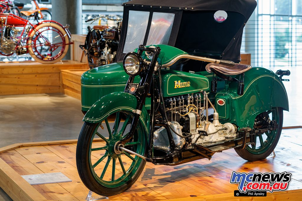 Barber Vintage Motorsport Museum - Early American motorcycles - Militor - Image: Phil Aynsley