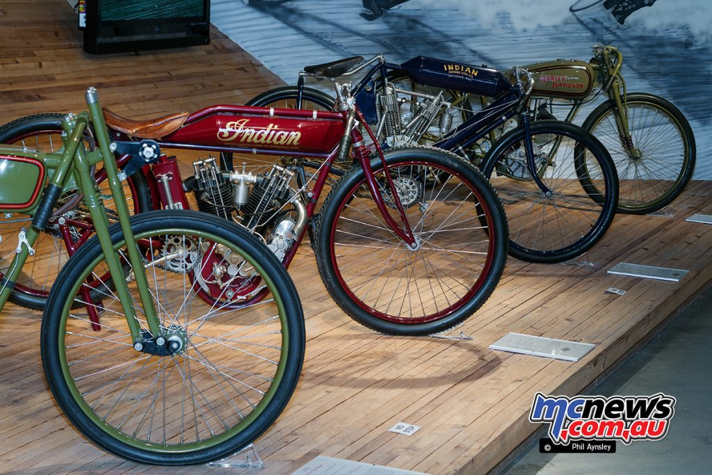 Barber Vintage Motorsport Museum - Early American motorcycles - Indians and Harley-Davidson V-twins - Image: Phil Aynsley