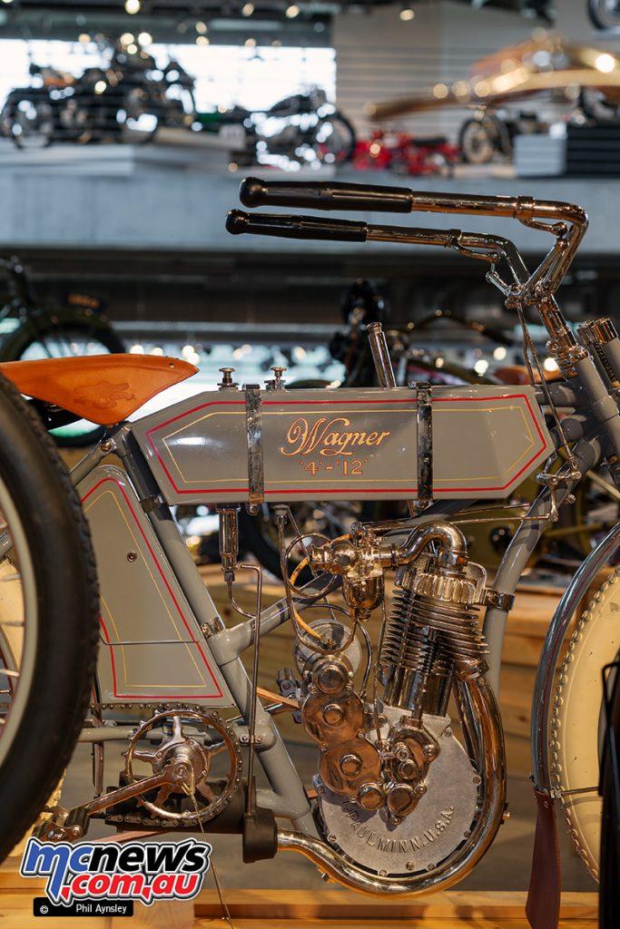 Barber Vintage Motorsport Museum - Early American motorcycles - Wagner - Image: Phil Aynsley