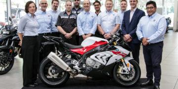 The Southbank BMW Motorrad Team - Winners of the 2016 BMW Motorrad Dealer of the Year Award