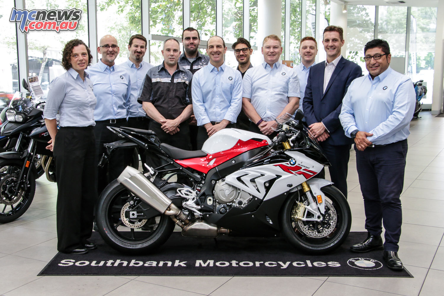 The Southbank BMW Motorrad Team - Winners of the 2016 BMW Motorrad Dealer of the Year Award