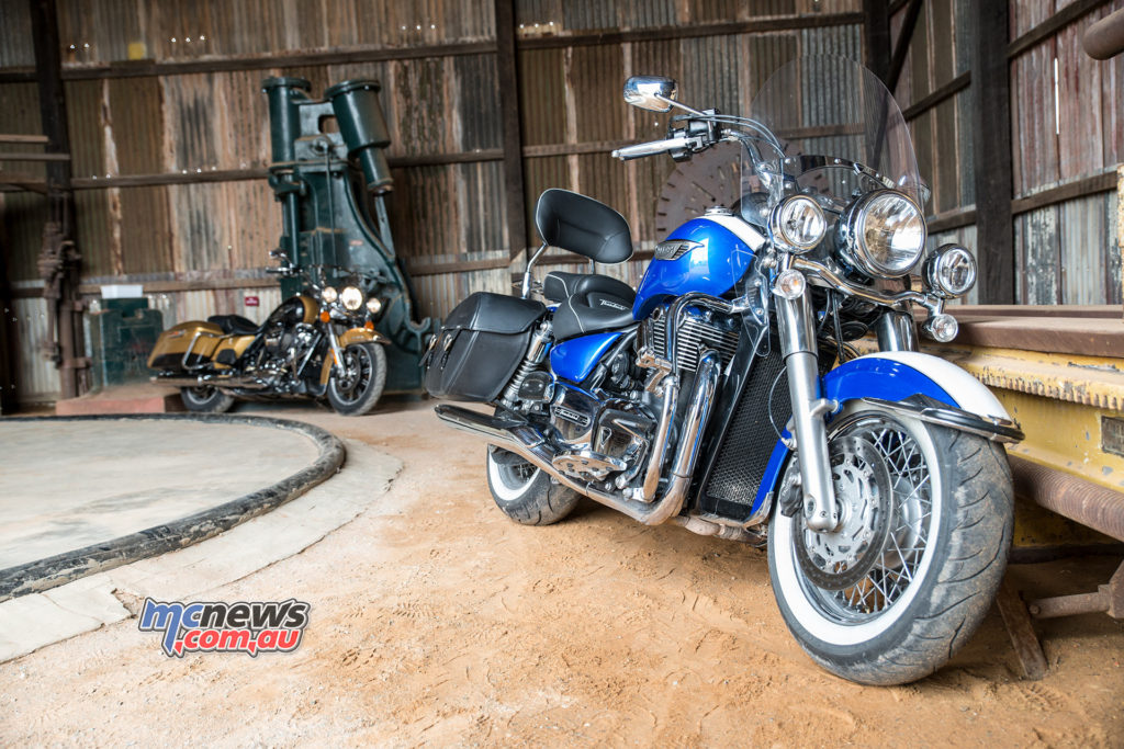 Triumph Thunderbird LT and Harley-Davidson Road King pictured at Hannans North Tourist Mine