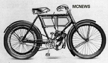 The first Triumph motorcycling, in 1902.