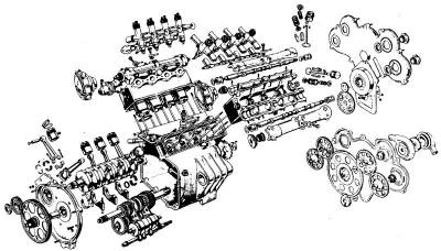 Moto Guzzi V8 engine