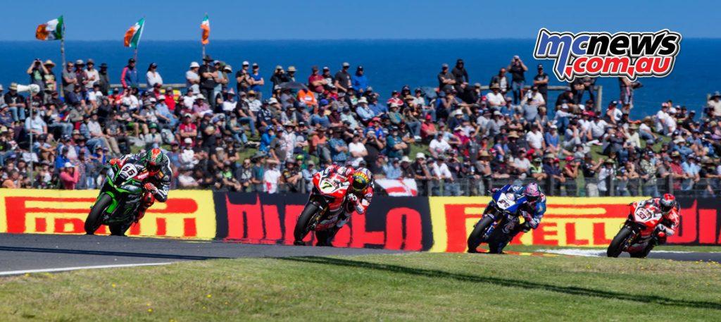 WSBK Superbikes at Phillip Island