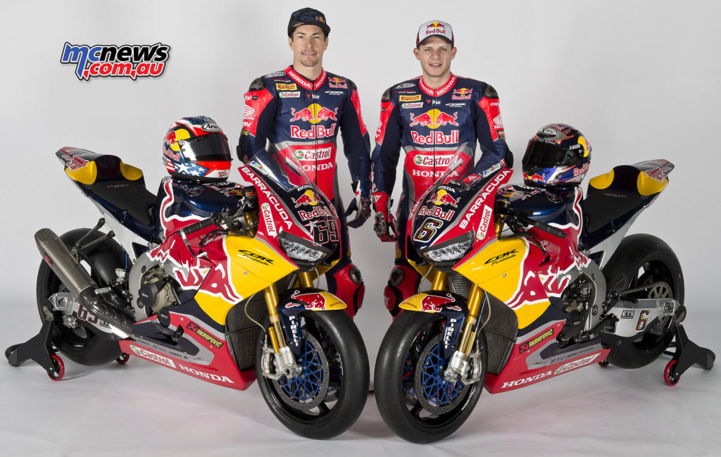 Red Bull Honda World Superbike Team - Stefan Bradl and Nicky Hayden