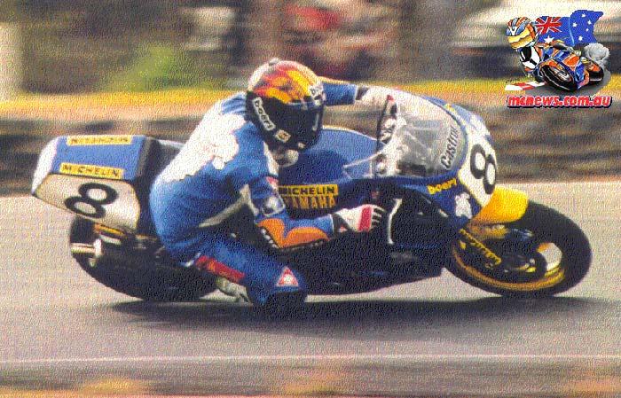 Jon Hafey on a Yamaha FZR600 in 1992