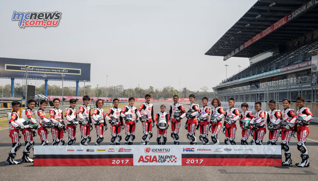 2017 Asia Talent Cup rider line-up